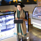 6 Color Women Winter Warm 100% Cashmere Wool Long Large Pashmina Scarf Wrap
