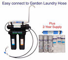 Home Drinking USA Reverse Osmosis RO System. Garden Laundry Garage Hose connect