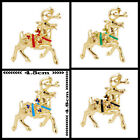 Christmas Reindeer Stag Diamante Sparkling Xmas Brooches Broachs Pins Party Gift