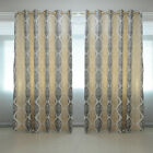 AM1 Luxury Printed Home Room Door Window Ready Made Ring Top Curtains Pair Drape