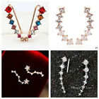 1Pair Women Lady Fashion Rhinestone Crystal Earrings Ear Hook Stud Jewelry Gift