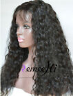 loose curly 100% Brizilian remy human hair full/front lace wig with 130% density