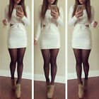 New Women Fashion Sexy Slim Clubwear 3/4 Sleeve Bodycon Bandage Mini Dresses