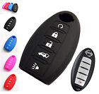 5 BUTTON FOR NISSAN SMART KEY SILICONE COVER FOB CASE HOLDER QASHQAI MURANO SKIN
