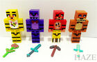 4Pcs Five Nights at Freddy's Chica Bonnie Bear Foxy Minifigures Toy blocks Set