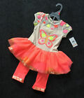 2pc Girls Toddler Butterfly Dress+Sequin Pant Set Kid's Clothes 2 3 4 6 7Year