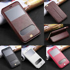 Flip Leather View Window Stand Case Cover For Apple iPhone 4S 5S 5C 6 6S Plus
