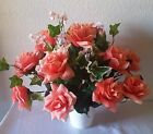 Coral Rose Table Centerpiece Wedding Decoration