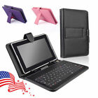 "US! Folio Stand Keyboard Leather Case Cover For 7'' / 9'' /10.1"" Tablet PC"