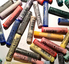 Single Daler Rowney Artists Soft Pastels Colours 443 Purple to 674 Yellow