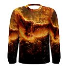 NEW Fire Owl Sublimated Men's Long Sleeve T-shirt S M L XL 2XL 3xl FREE shipping