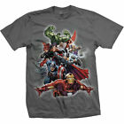 Mens's Official All Your Favourite Marvel Comic Heros Hulk, Iron Man Tshirt Tee