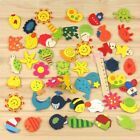 12 /24pcs Cute Novelty Animal Wooden Fridge Magnet Sticker Funny Refrigerator Toy