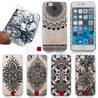 Henna Mayan Mandala Wave Side Antiskid Soft Plastic Back Case Cover For Phones#E