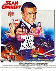 James Bond Never Say Never Again Movie Poster Canvas Print Wall Art Sean Connery £65.0 GBP on eBay