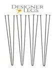 "Hairpin Table Legs 4"" - 34"" 10 & 12mm bar ( 4 legs / set ) Made in England"