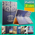 New HD Print Case Smart Stand Folio Cover Skin For Apple Ipad 2//3/4