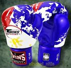 TWINS BOXING GLOVES FANCY FBGV-44 FLAG MUAY THAI MMA SPARRING GENUINE LEATHER