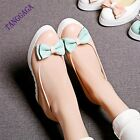 Sweet Girls Casual Bowknot Bowtie Studded Wedge High Heel Womens Slip On Shoes