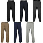 Belted Smart Formal/Casual Works Pants Trousers  mens Size