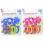 First Steps Baby Learning Links Teething Set - BLUE or PINK - 12 months+