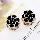 Charms Lifelike Flowers Ladies Shiny Austria Crystals Stud Eadrrings New Arrival