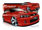 Monaro V2 MONARO CV8Z RED HOT  A1 ROLLED CANVAS (HC95B)