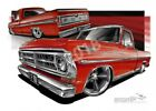F100 1970 F100 RED  A1 ROLLED CANVAS (FT514)