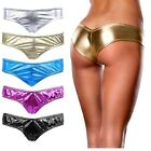 Hot Sexy Lingerie Womens Metallic V-string Panty Knickers Thongs Briefs G-string