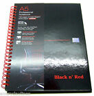 Black n' Red - A5/A4 Spiral Bound Hardback Notebook - 120 Perforated Lined Pages