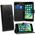 For Apple iPhone 8 7 Genuine Leather Wallet Flip Case Cover + Tall Stylus