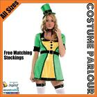 Womens Irish Leprechaun St Patricks Ireland Day Fancy Dress Ladies Costume