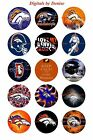 "DENVER BRONCOS 1 "" CIRCLES  BOTTLE CAP IMAGES. $2.45-$5.50  ***FREE SHIPPING*** $3.45 USD on eBay"