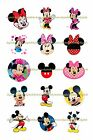 "MICKEY MOUSE MINNIE MOUSE 1"" CIRCLES BOTTLE CAP IMAGES. $2.45-$5.50 SHIPS FREE"