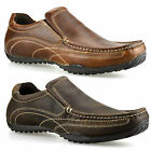 Mens New Casual Leather Slip On Walking Boat Moccasin Loafers Driving Shoes Size