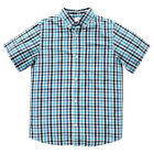 BNWT BOYS NAVY SKY BLUE WHITE CHECK COLLARED SHIRT CHOOSE SIZE 8 or 9 ~ NEW