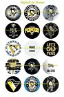 "PITTSBURGH PENGUINS 1"" CIRCLES  BOTTLE CAP IMAGES. $2.45-$5.50  FREE SHIPPING $4.45 USD on eBay"