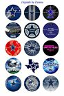"DALLAS COWBOYS 1"" CIRCLES  BOTTLE CAP IMAGES. $2.45-$5.50 ****FREE SHIPPING**** $3.45 USD on eBay"