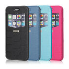 For Apple iPhone 6S /6S Plus PU Leather Window Front-View Stand Wallet Case