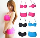 2016 Sexy Women Girls Bandeau Padded Beach Bathing Suit Swimwear Swimsuit Bikini