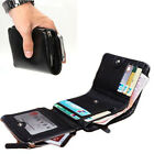 Genuine Leather Trifold Men's Credit Card Holder Purse Capacity Billfold Wallet