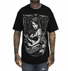 Sullen Pin Up Street Gothic Devil Rockabilly Tattoo Skulls Mens Tee IN TIME