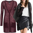 Women's UK Size 10 - 26 Black or Wine Red Mohair Wool Long See through Cardigans