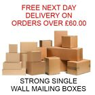 HIGH QUALITY SINGLE WALL POSTAL MAILING CARDBOARD BOXES PACKING - MULTI LISTING