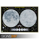 LARGE MOON MAP SPACE (1244) Photo Picture Poster Print Art A0 A1 A2 A3 A4