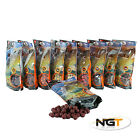 NGT Carp Fishing Boilies 15mm 500g Bag With 10 Flavours u choose + get pva bags