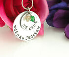 Necklace Personalized - Name plate with engraved children's names  Swavorski