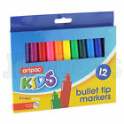 12 BULLET TIP COLORED MARKER KID ART CRAFT DRAWING COLOURING PROJECTS PAINTINGS