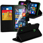 Leather Book Wallet Phone Case Cover+Film for Lumia