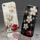 NEW 3D BLING DELUX DIAMANTE FLOWER DIAMOND CASE COVER 4 SAMSUNG iPHONE SONY HTC